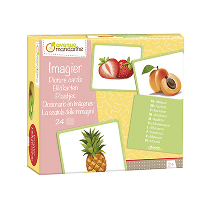 Imagier Fruits 24 cartes