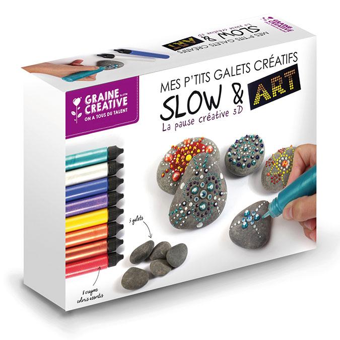 Peinture 3D Kit Slow & Art Mes P'tits galets