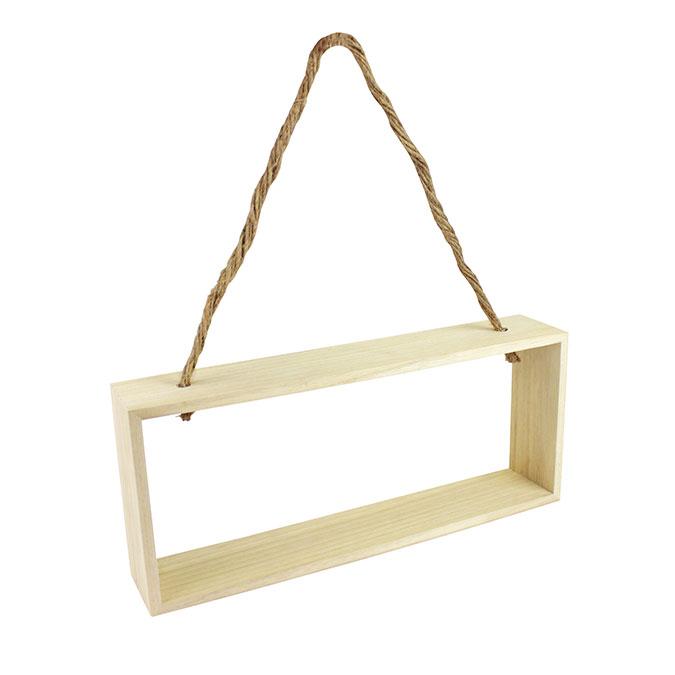 Étagère en bois à suspendre 28 x 12 x 5 cm