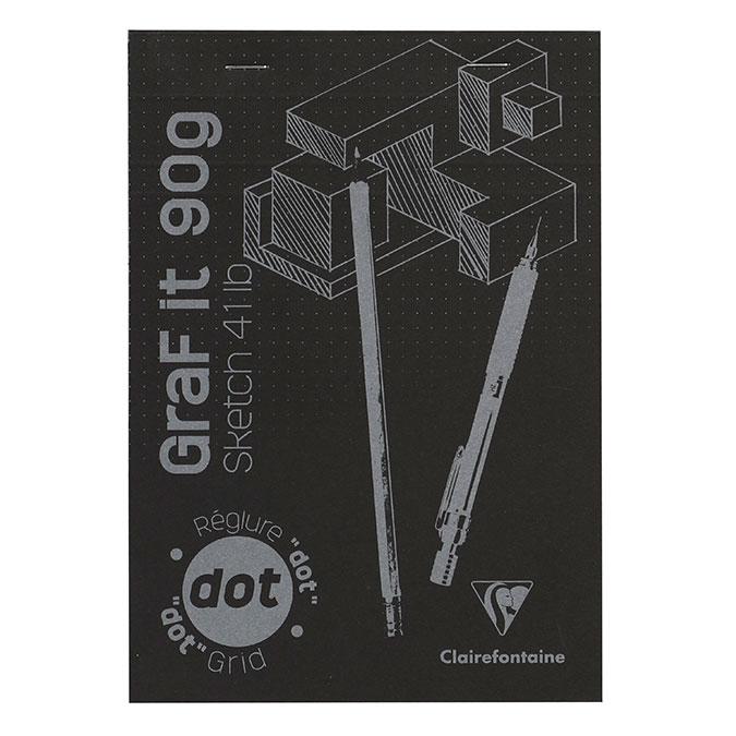 Bloc de papier GraF'it DOT avec repère 90 g/m² 80 Fles