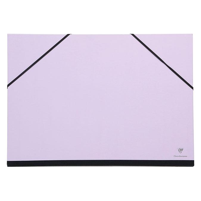 Carton à dessin à élastiques 37 x 52 cm Lilas