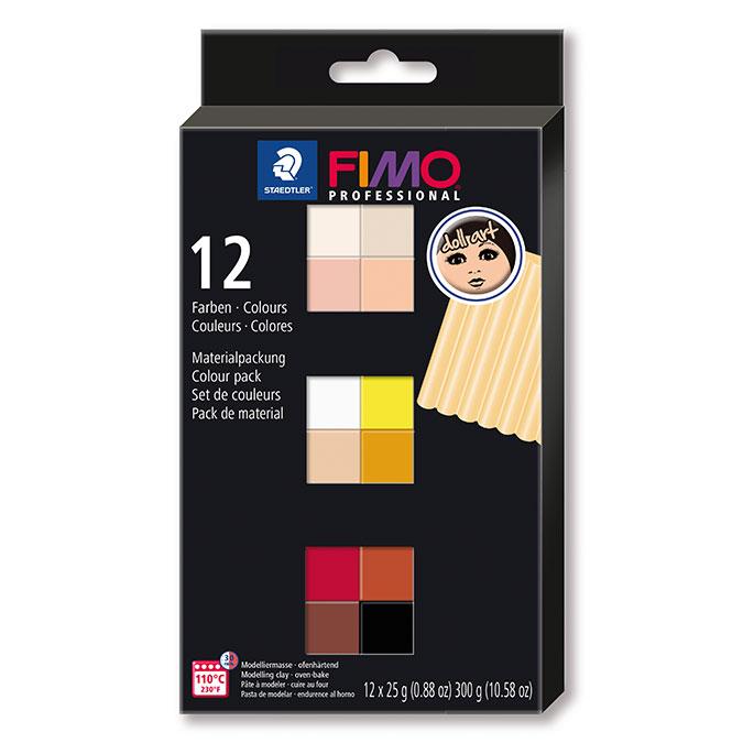 Pâte à modeler polymère FIMO Pro Set couleurs ethniques 12 x 25 g