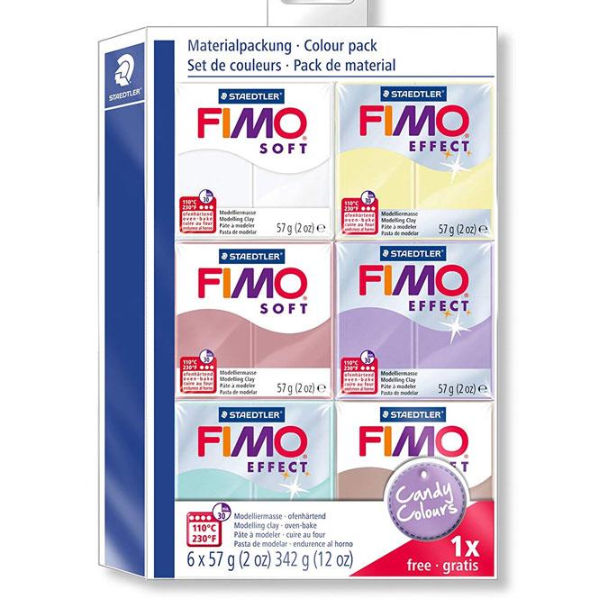 Pâte à modeler polymère FIMO Soft Set couleurs bonbons 6 x 57 g