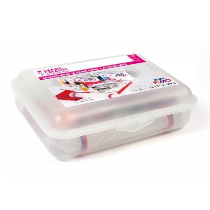 Pâte à modeler polymère FIMO Soft 12 pains 57 g + Accessoires