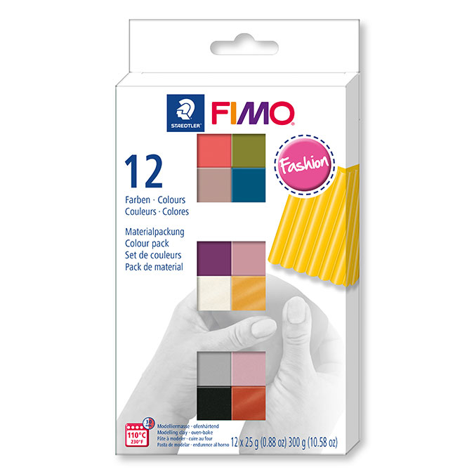 Pâte à modeler polymère FIMO Soft Set couleurs fashion 12 x 26 g