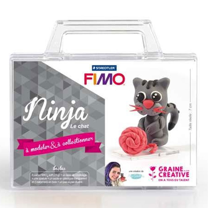 Kit figurine FIMO Ninja le chat