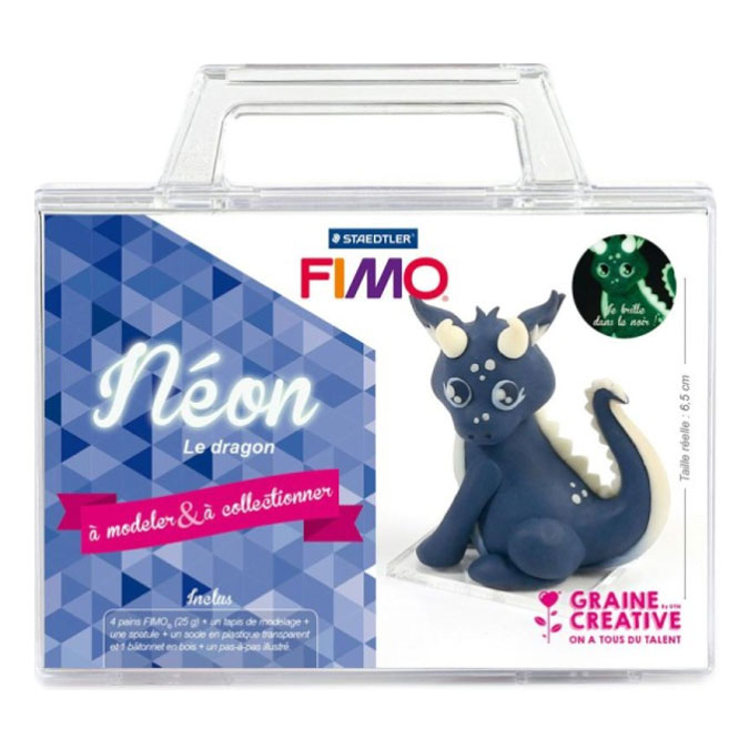 Kit figurine FIMO Néon le dragon