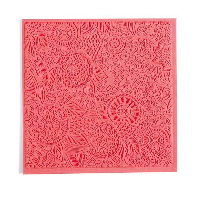 Tapis de texture pour pâte polymère 9 x 9 cm Floral