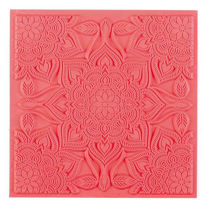 Tapis de texture pour pâte polymère 9 x 9 cm Boho Chic