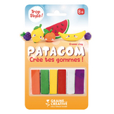 Gomme à modeler Patagom Kit Fruits 6 x 25 g