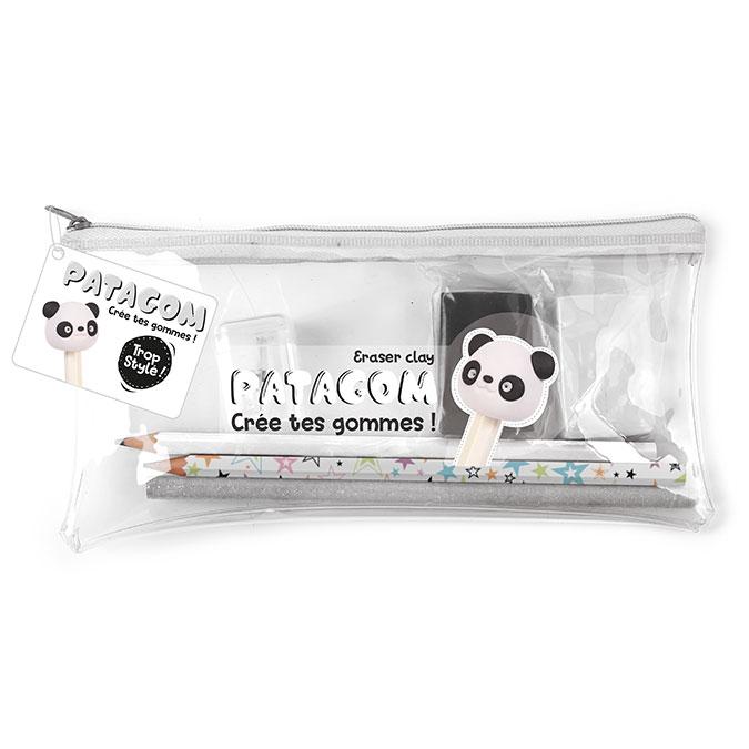Gomme à modeler Kit Trousse Panda + matériel