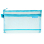 Trousse Bleu transparent 12,5 x 21 x 3 cm