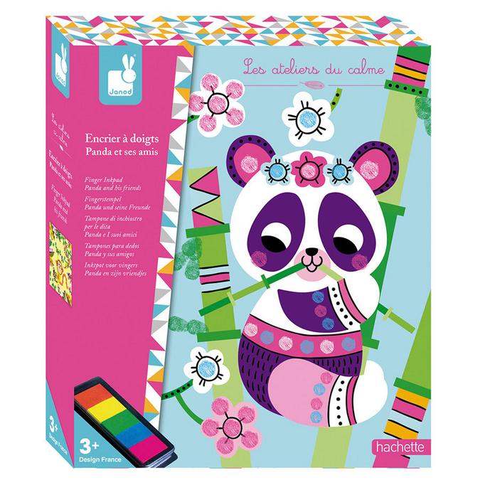 Encrier à doigts coffret Panda et ses amis