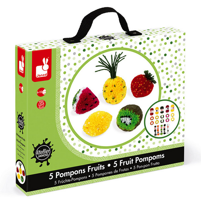 Pompons coffret Fruits