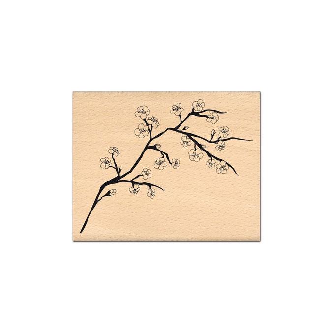Tampon bois Branche de cerisier 8 x 10 cm
