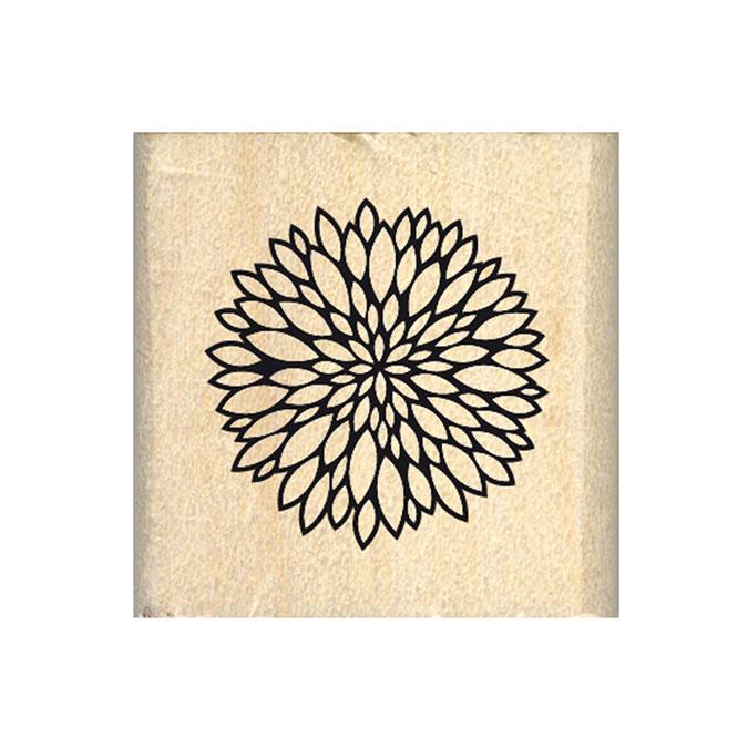 Tampon bois Jolie mini fleur 3 x 3 cm