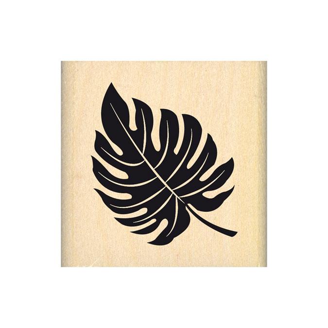 Tampon bois Feuillage exotique 5 x 5 cm