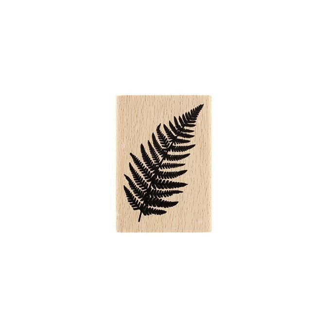 Tampon bois Fougère 5 x 7 cm