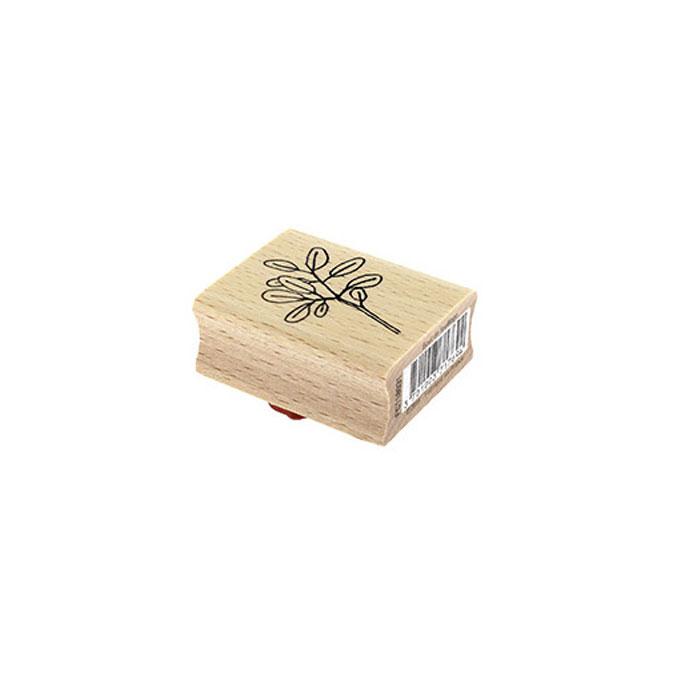 Tampon bois Bout de feuillage 4 x 5 cm