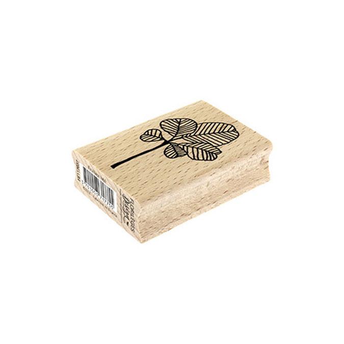 Tampon bois Feuillage lobé 6 x 6 cm