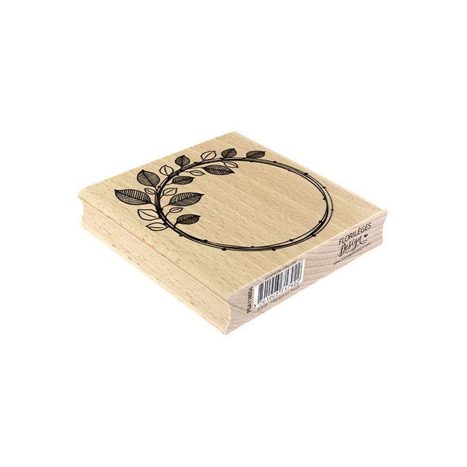 Tampon bois Couronne naturelle 10 x 10 cm
