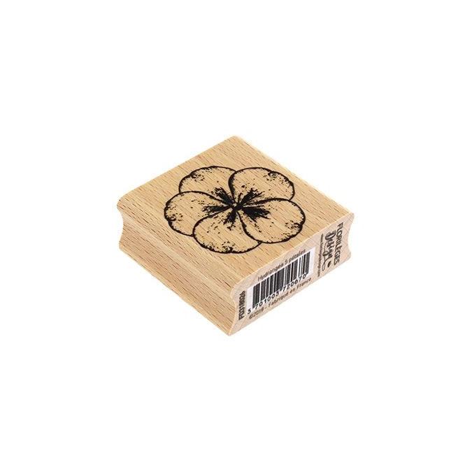 Tampon bois Hydrangea 5 pétales 5 x 5 cm
