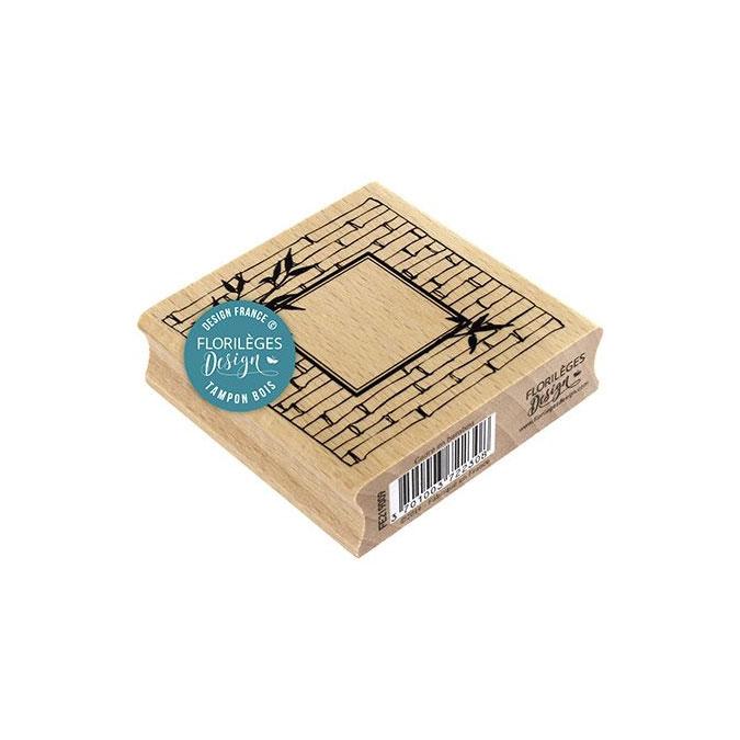 Tampon bois Cadre en bambou 7 x 7 cm