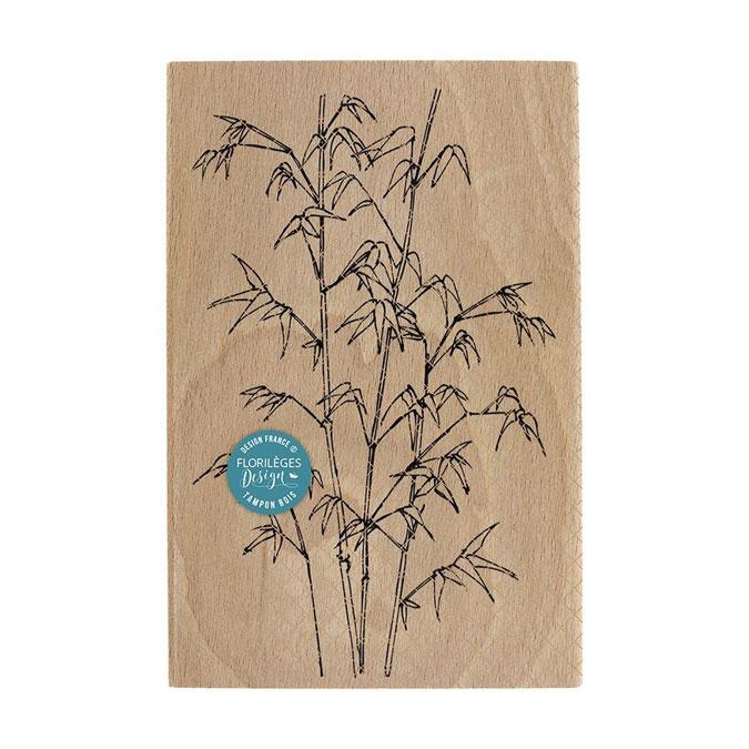 Tampon bois Bambou légers 10 x 15 cm