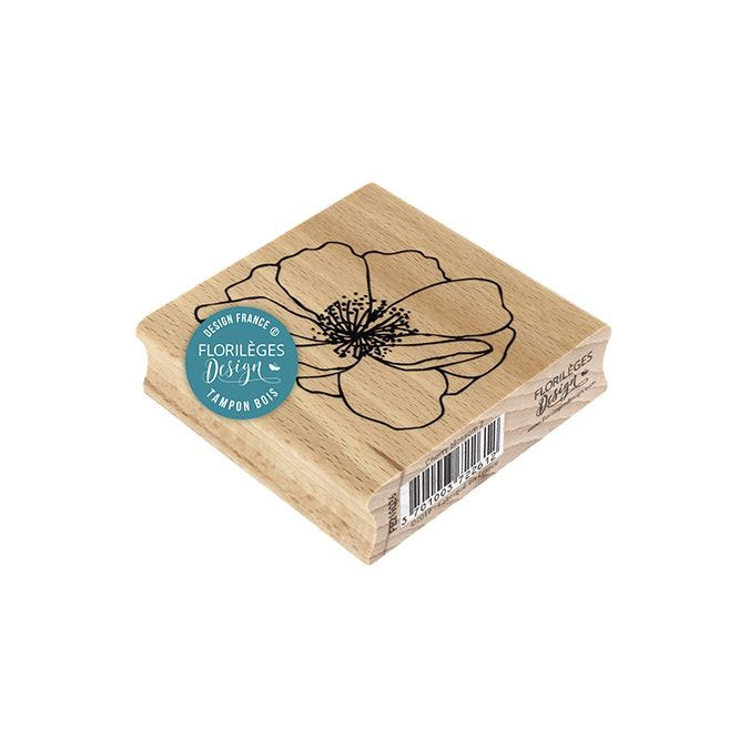 Tampon bois Fleur de cerisier 7 x 7 cm