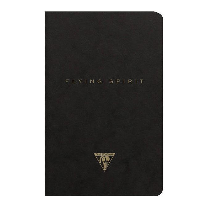 Carnet Flying Spirit noir 11 x 17 cm 96 pages Lignées 90g/m²