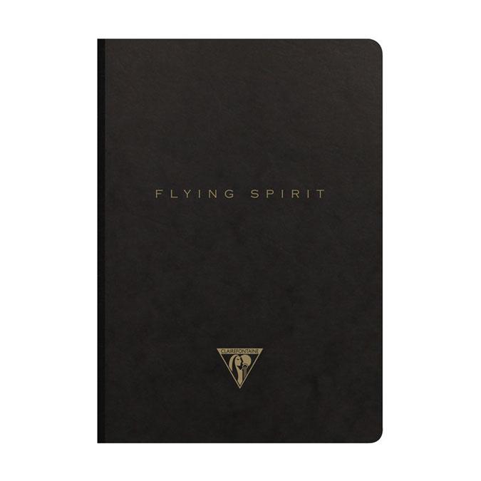 Carnet Flying Spirit noir 14,8 x 21 cm 192 pages Lignées 90g/m²