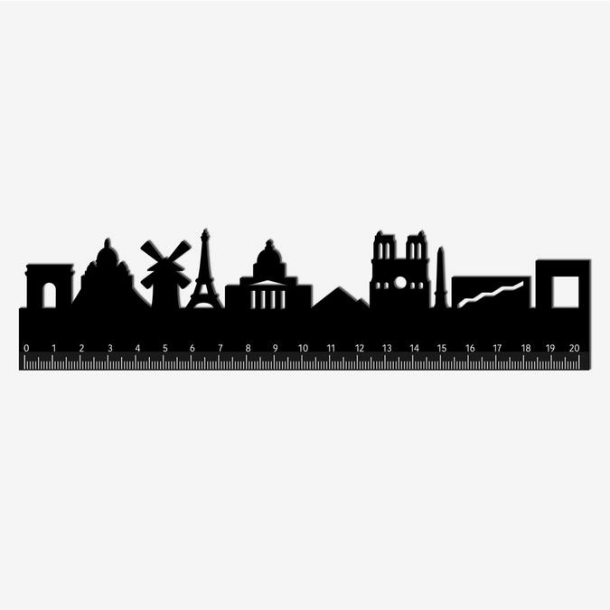 Règle silhouette Paris 20 cm