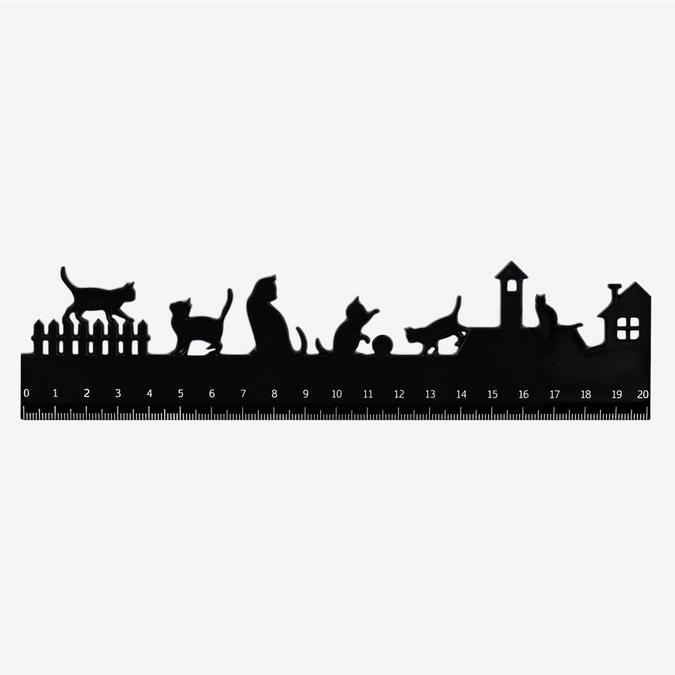 Règle silhouette chat 20 cm