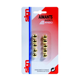 Aimant 9 mm Or 10 pcs
