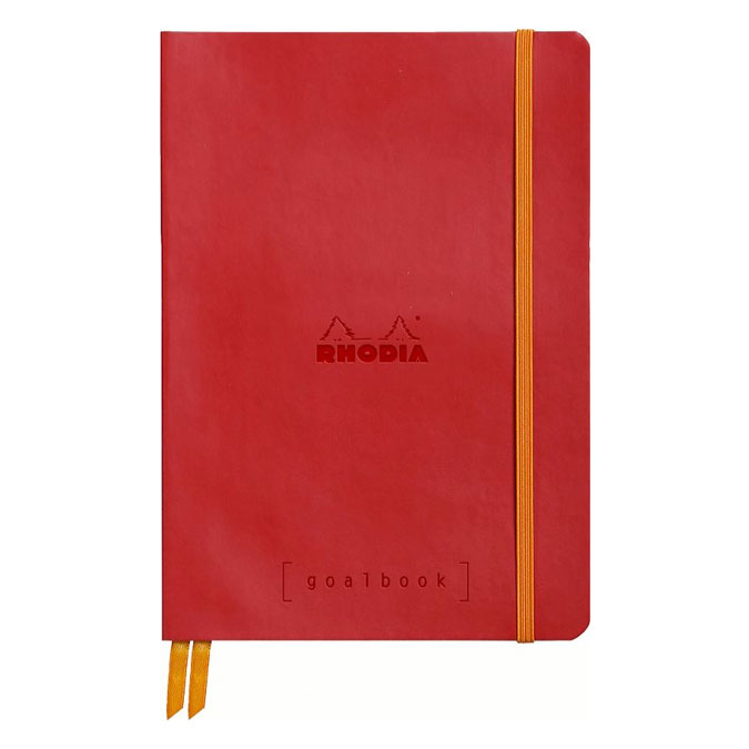 Carnet Rodhiarama GoalBook A5 240 p Coquelicot
