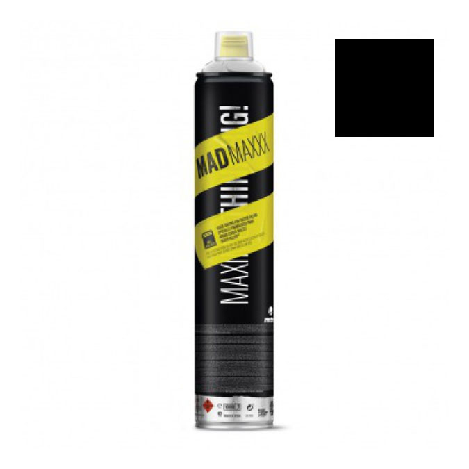 Peinture en spray MTN MADMAXXX 750 ml Noir 2G