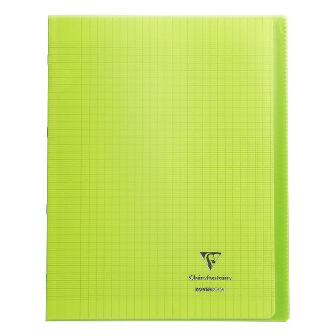 Cahier 24 x 32 cm grands carreaux Séyès 96 pages Koverbook
