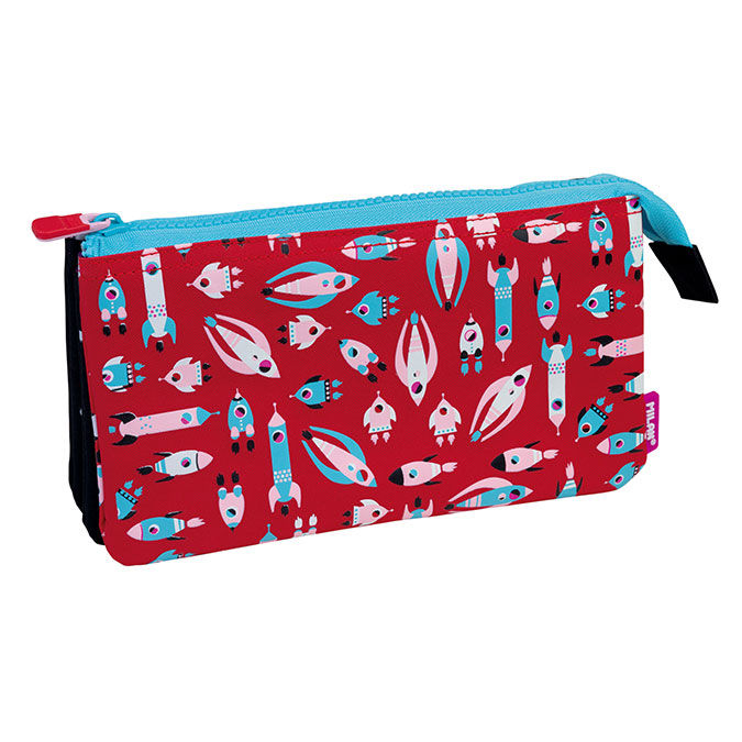 Trousse 5 compartiments Super Heroes Space rose lumineux