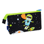 Trousse 5 compartiments Super Heroes Space bleu lumineux