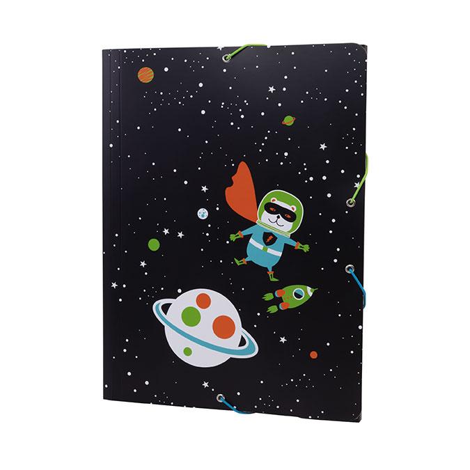 Chemise légère Super Heroes Space noir orange