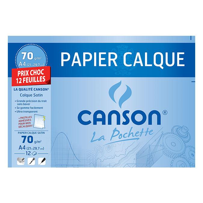 Papier calque 70 g/m² A4 Pochette 12 feuilles