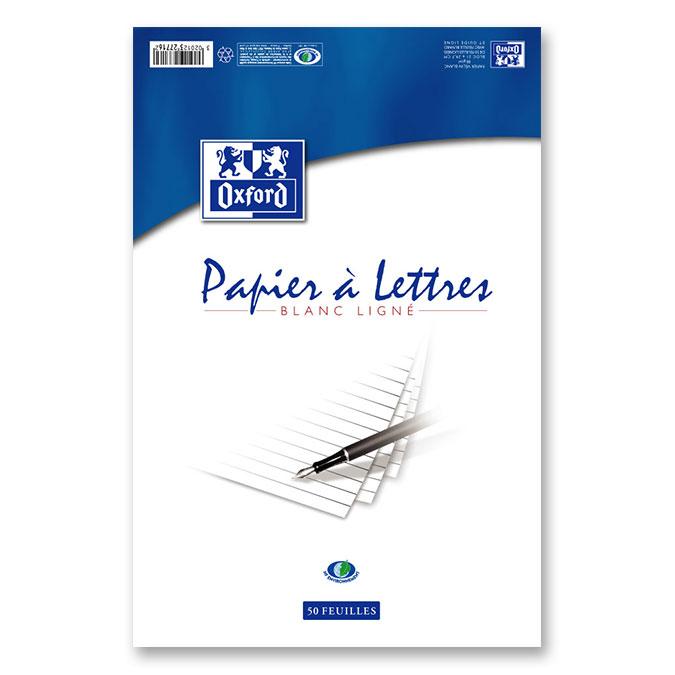 Papier à lettre ligné A4 50F 80 g/m²