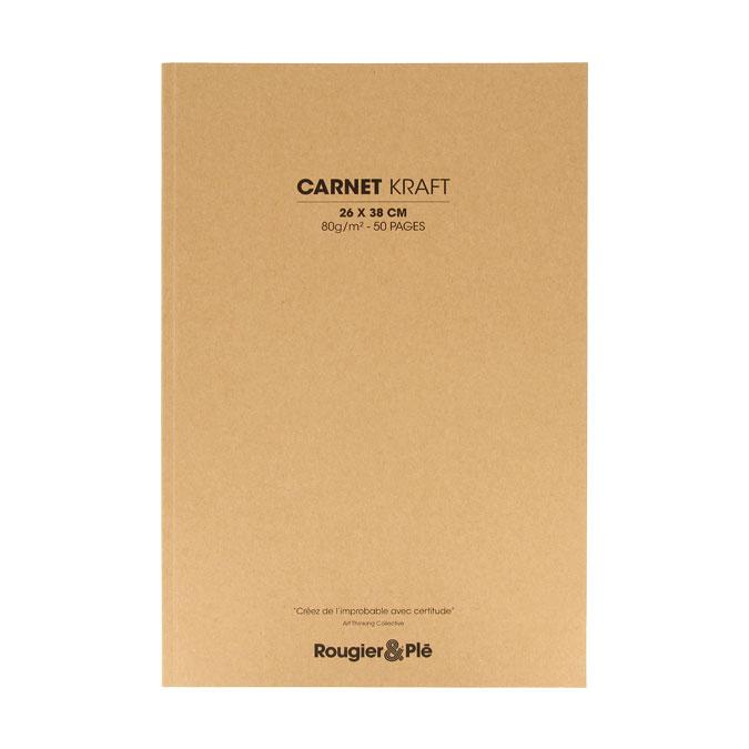 Carnet papier Kraft 80 g/m² 50 feuilles