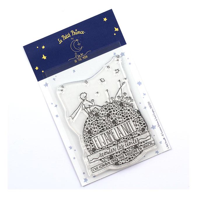 Tampon transparent Les secrets du Petit Prince : J'aime la nuit