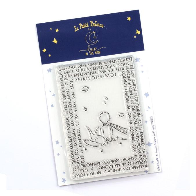 Tampon transparent Les secrets du Petit Prince : Apprivoise-moi