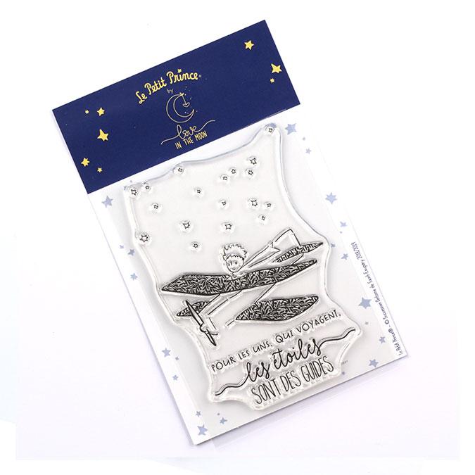 Tampon transparent Les secrets du Petit Prince : Les étoiles sont des guides