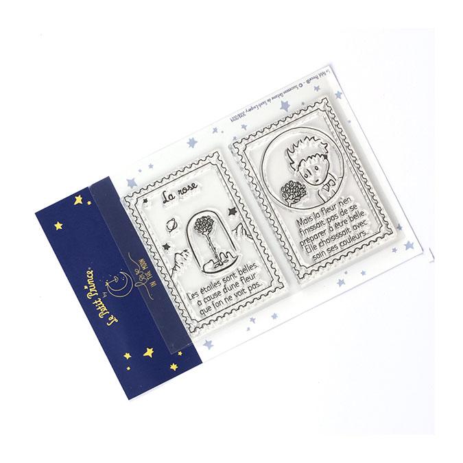 Tampons transparents timbre Les secrets du Petit Prince : La rose