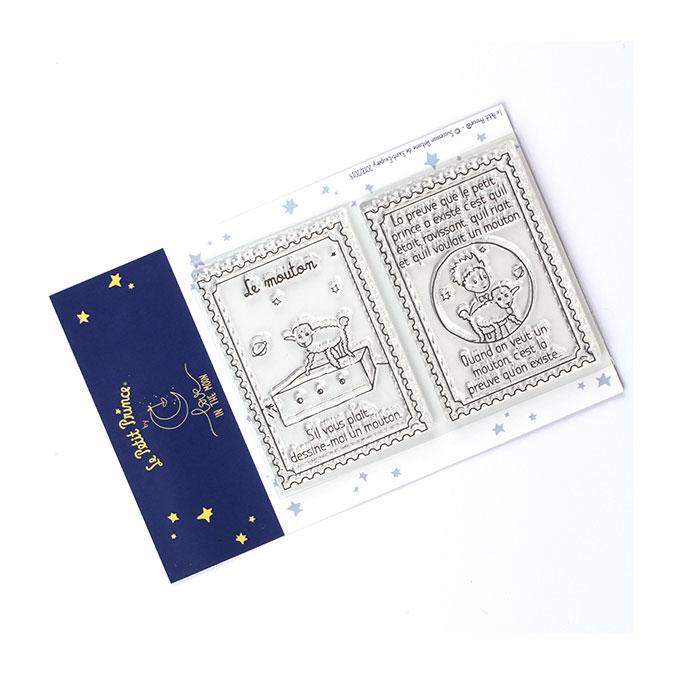 Tampons transparents timbre Les secrets du Petit Prince : Le mouton
