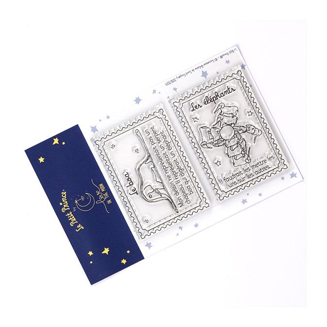 Tampons transparents timbre Les secrets du Petit Prince : Les animaux