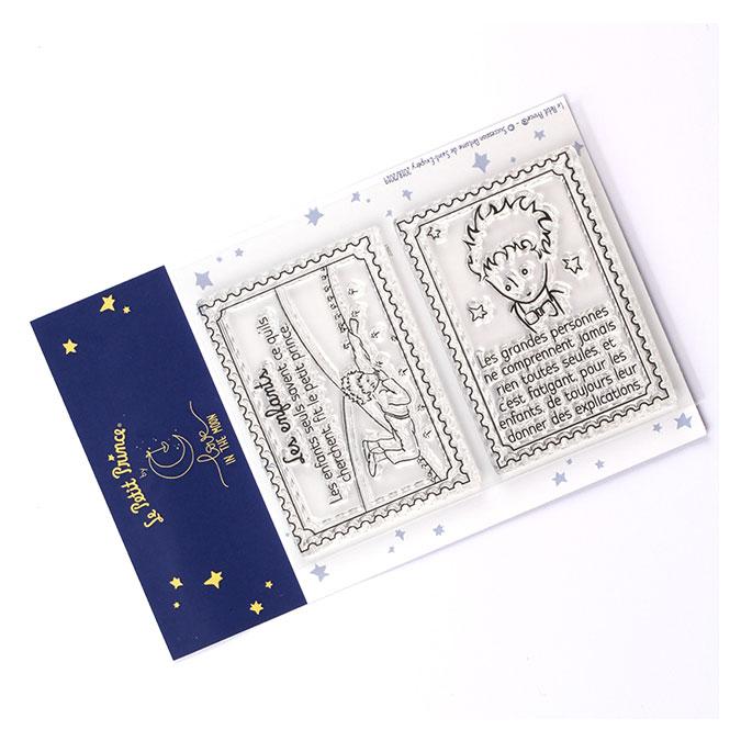 Tampons transparents timbre Les secrets du Petit Prince : Les enfants